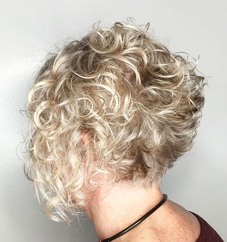 Curly Blonde Hair Short