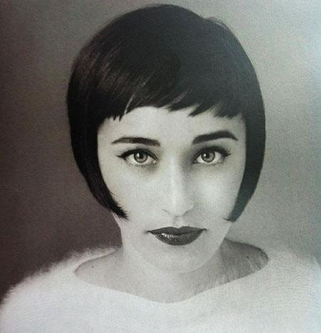 Hepburn Audrey Short Fringes