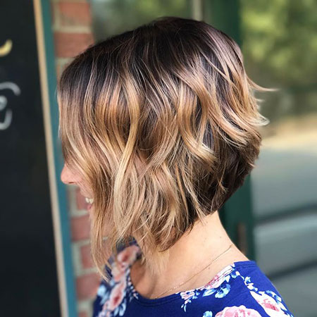 Bob Balayage Short Layered