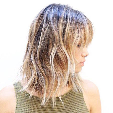 Bob Shaggy Balayage Choppy