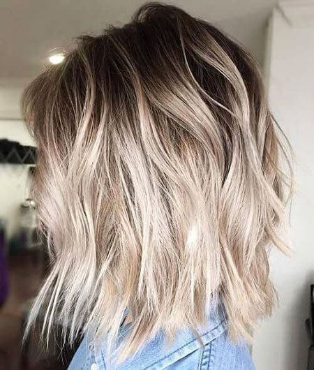 Blonde Balayage Hair Short