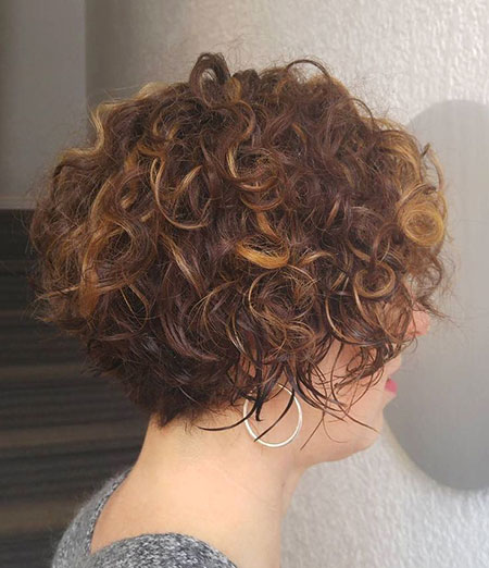 Curly Short Bob Brunette