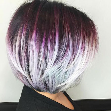 Bob Layered Blonde Purple