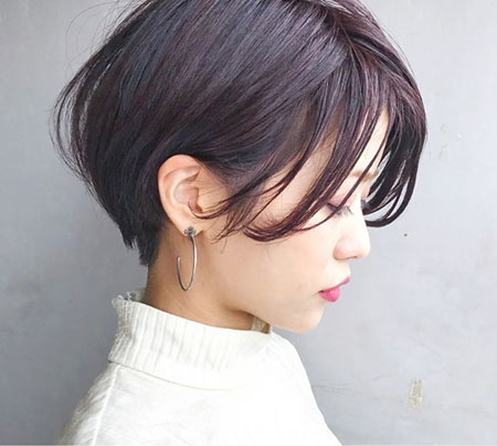 Layered Asian Bob Pixie
