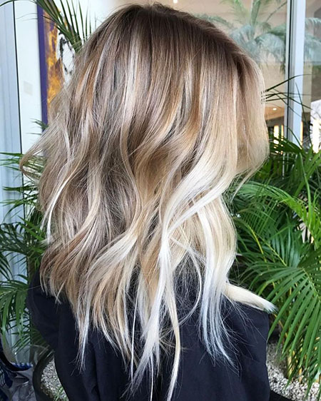 Choppy Blonde Balayage Medium