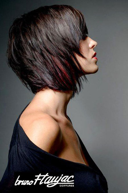 Modern Texture Bob, Bob Hair Inverted Modern