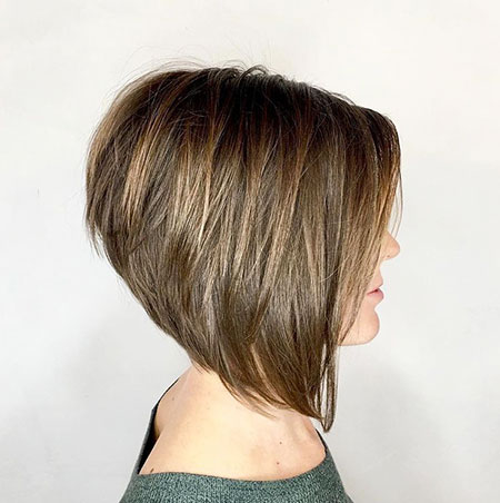 Layered Short Haircut, Bob Layered Short Stacked