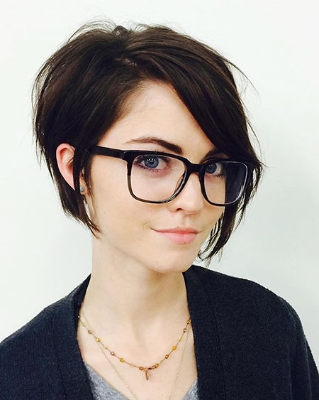 Short Hair for Women with Glasses, Short Pixie Hairtyles Long