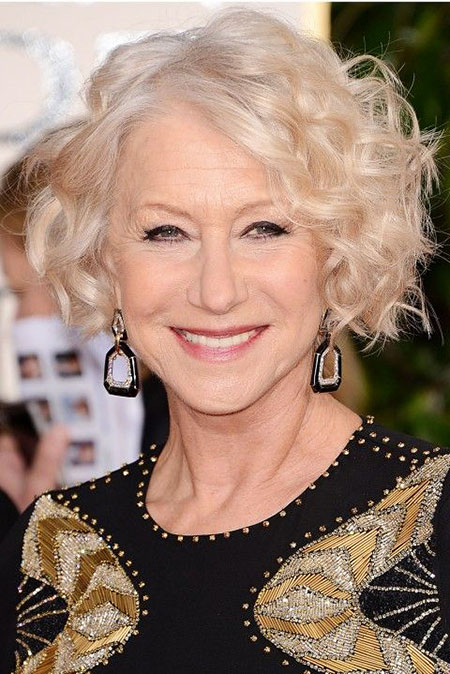 Short Fine Bob, Short Curly Bob Mirren