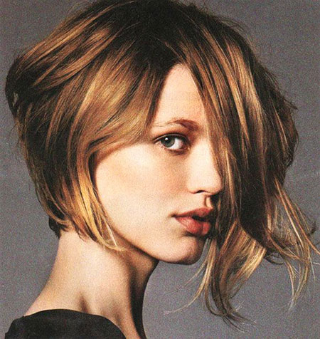 Hair Short Bob Asymmetrical