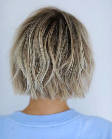 Choppy Hair, Bob Choppy Messy Balayage
