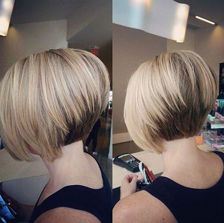 Stacked Bob Hair, Bob Short Stacked Women