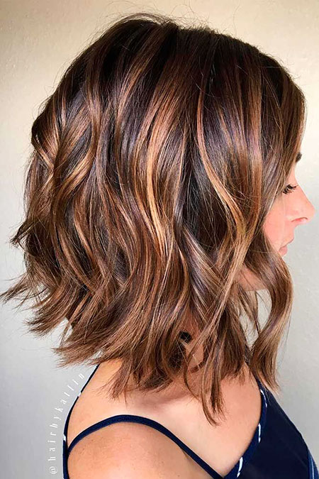 Hair Brown Balayage Bob