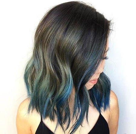 Blue Hair, Hair Color Bob Blue