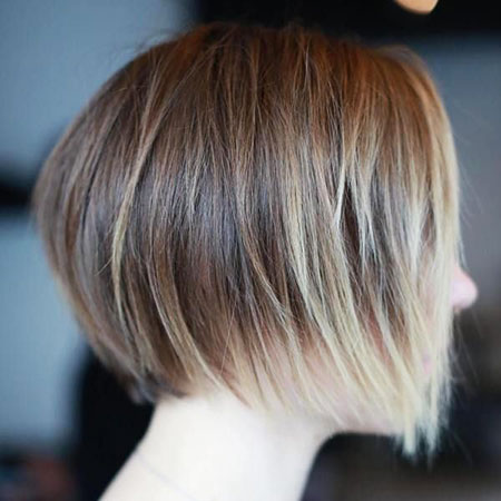 Blonde Hair, Bob Layered Balayage Bobs