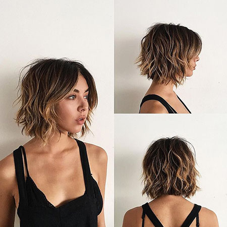 Curtain Bangs Short Hair, Messy Short Wavy Bangs