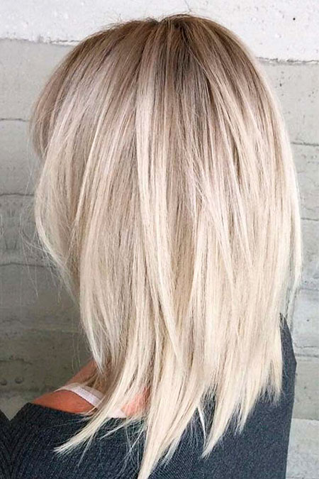 Layered Hair, Bob Balayage Length Medium
