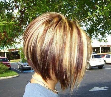 Bob Blonde Hair Head