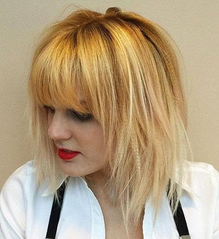 Blonde Hair Bangs, Bob Blonde Bangs Layered