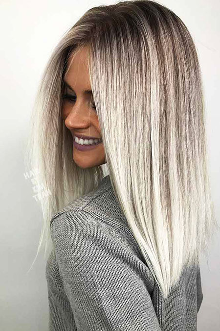 Lob Bob Balayage Hair
