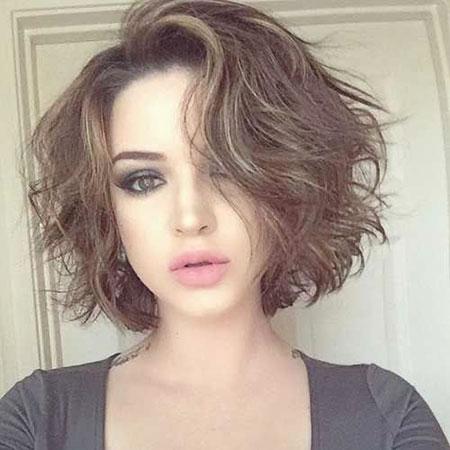 Messy Short Hair Curly