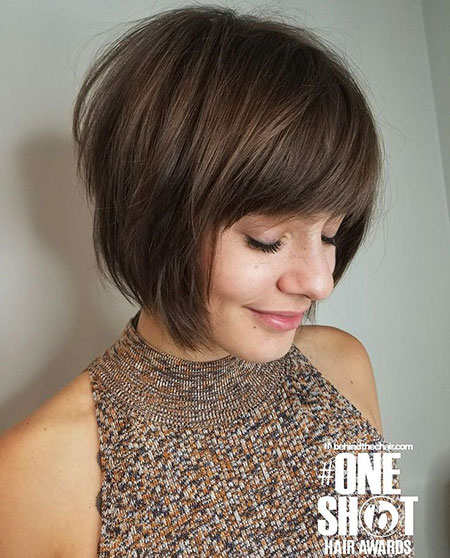 Short Bob Bangs Hair