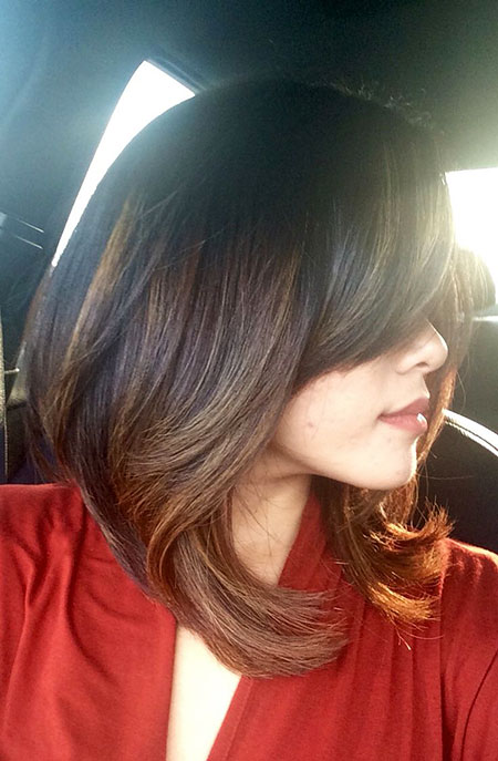 Cute Hair, Length Shoulder Layered Bob