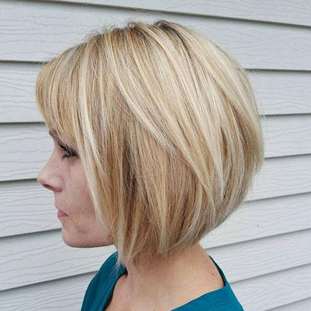 Straight Hair, Bob Blonde Short Bobs