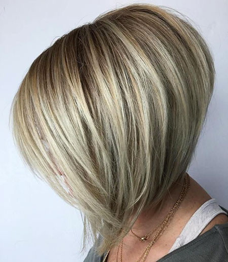 Bob Layered Balayage Blonde