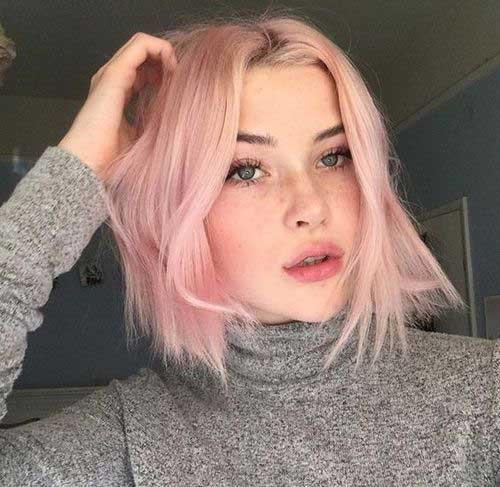 Pink Bob Hairstyles