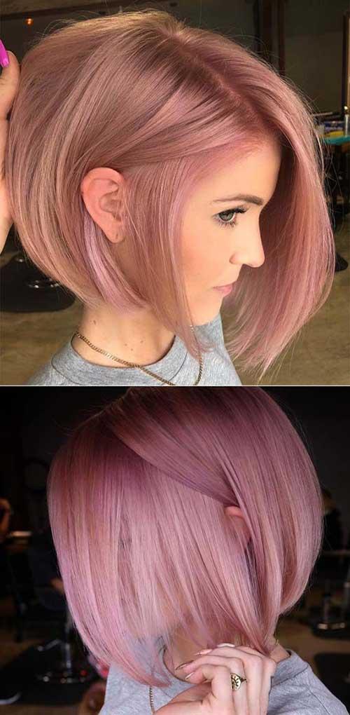 Pink Color Bob Haircuts