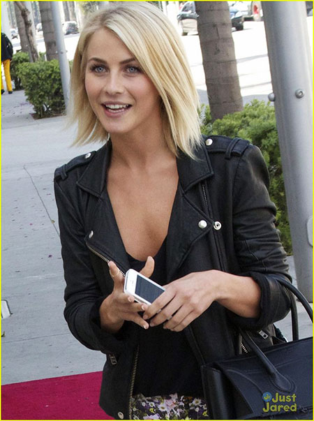 Julianne Hough Bob Hairtyle, Hair Fashion Jacket Leather