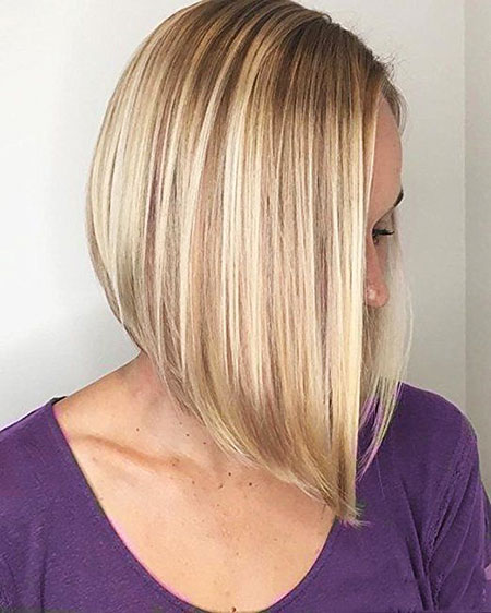 Medium Bob Hairtyle, Bob Blonde Balayage Bobs