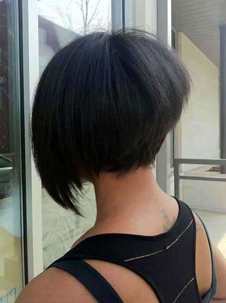 Bob Black Angled Layered