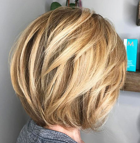 Short Layered Balayage Bob