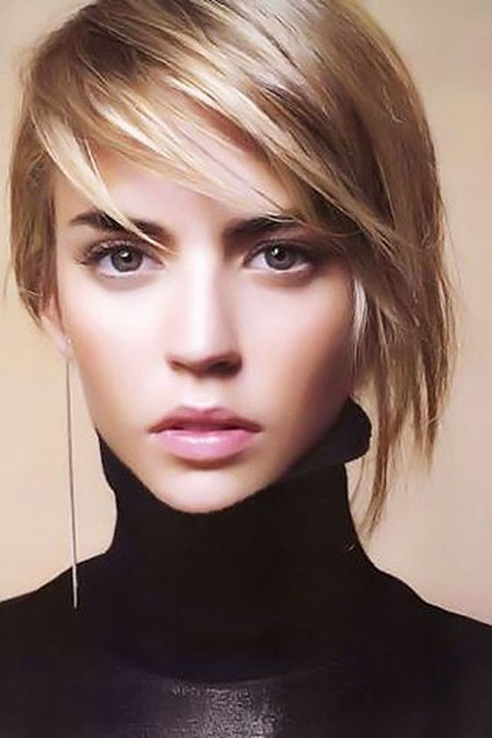 Short Hair Asymmetrical Bob