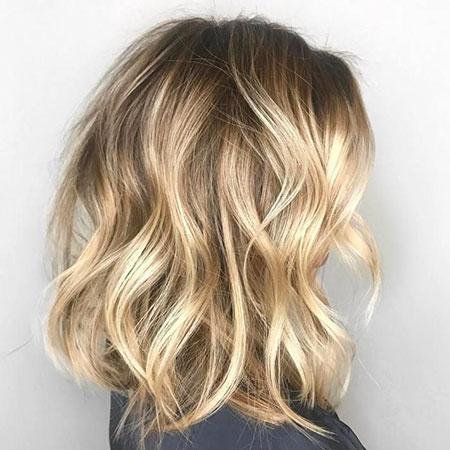 Blonde Hair Lob Bob