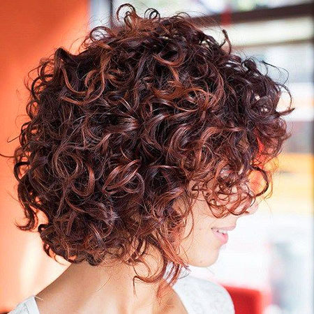 Curly Bob Brunette Mahogany