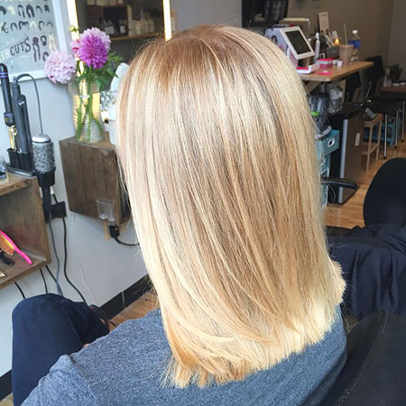 Blonde Hair Balayage Blunt