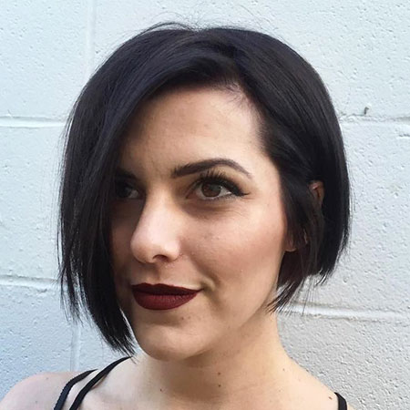 Bob Short Brunette Asymmetrical