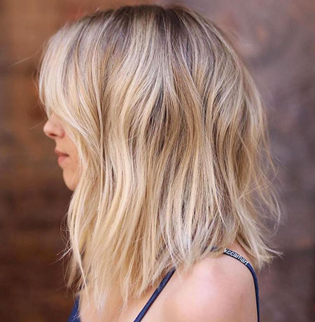 Blonde Bob Lob Long