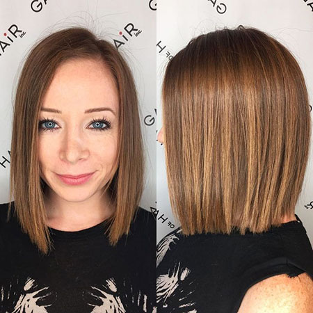 Hair Bob Blunt Color