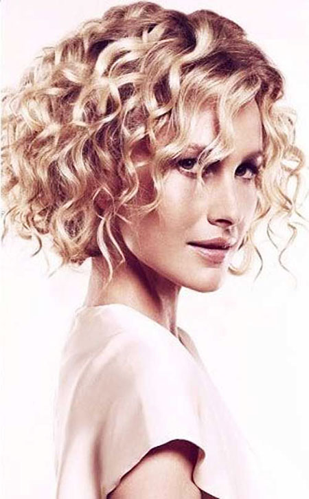 Curly Hair Blonde Short