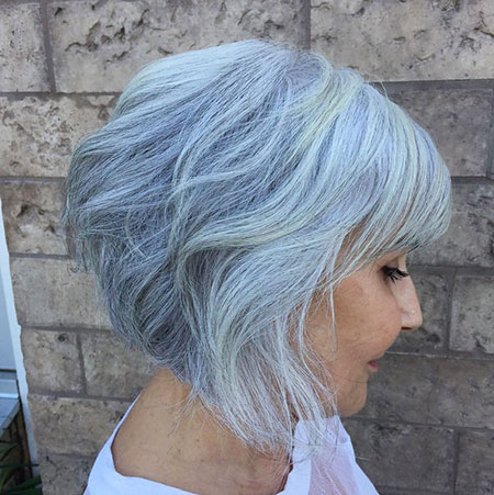 Bob Blonde Balayage Blue