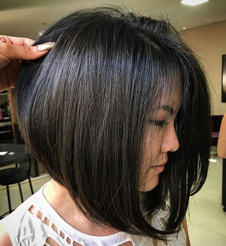 Bob Asian Layered Brunette