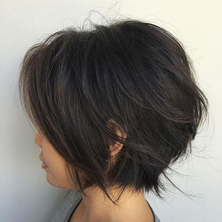 Length Layered Bob Black