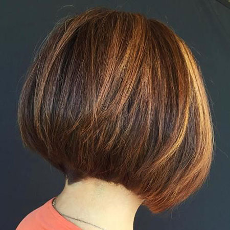 Brunette Brown, Bob Caramel Brown Stacked