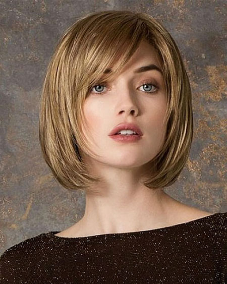 Layered Side Bangs, Bob Layered Hair Short