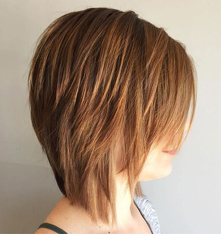 Layered Bob Brown Choppy