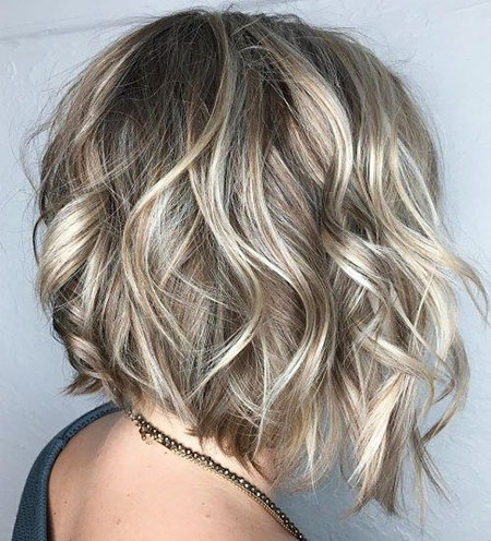 Bob Balayage Color Highlights